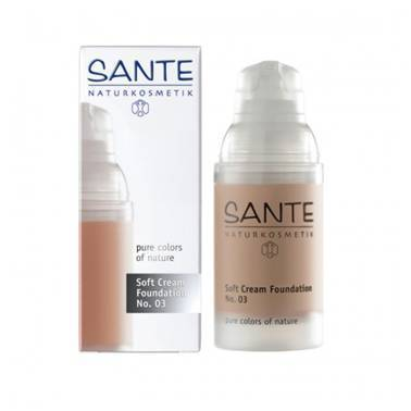 Maquillaje SOFT CREAM FOUNDATION 03 SUNNY BEIGE SANTE 30ML