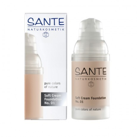 Maquillaje SOFT CREAM FOUNDATION PORCELAIN 01 SANTE 30ML