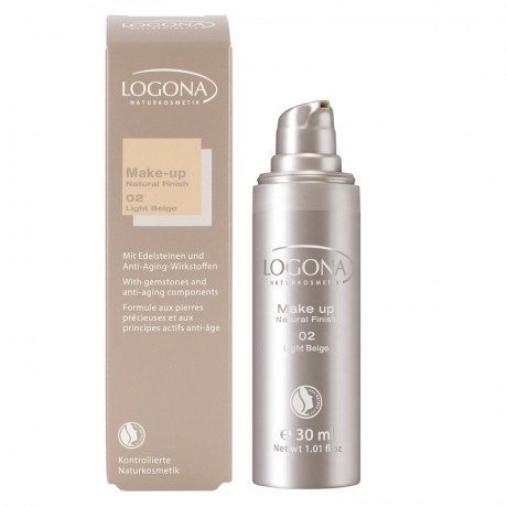 Maquillaje NATURAL FINISH 02 Light Beige LOGONA 30ML