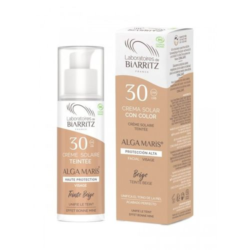 Crema Solar Facial Color Beige SPF30 ALGA MARIS 50ml
