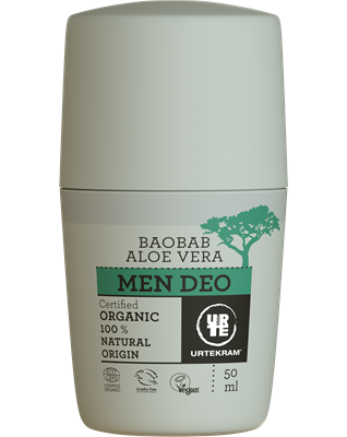 Desodorante Men Aloe y Baobab Roll On Vegano URTEKRAM 50ml