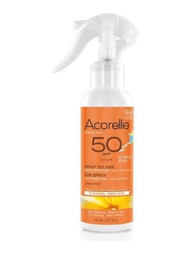 Spray Solar SPF50 Niños Bio ACORELLE 150ml
