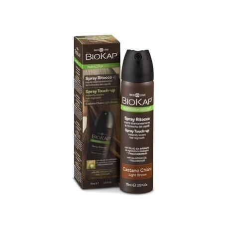 Spray Retoque Touch Up Castaño Oscuro BIOKAP 75ml